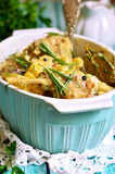 Rabbit stewed with potato in a cream sauce. Royalty Free Stock Photography