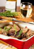 Rabbit stewed with  wine Royalty Free Stock Image