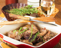 Rabbit stewed with wine Royalty Free Stock Photos