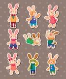 Rabbit stickers Royalty Free Stock Image