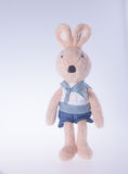 Rabbit or stuffed bunny on a background. Royalty Free Stock Image