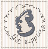 Rabbit supplies label Royalty Free Stock Photo