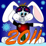 Rabbit symbol 2011 Chinese new year  Royalty Free Stock Images