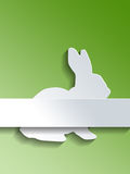 Rabbit symbol with label over green background Royalty Free Stock Photo