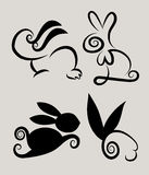 Rabbit Symbols 2 Stock Images