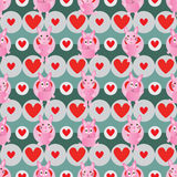 Rabbit symmetry style seamless pattern Royalty Free Stock Photo