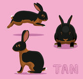 Rabbit Tan Cartoon Vector Illustration Royalty Free Stock Photos