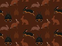 Rabbit Tan Seamless Wallpaper Stock Photography