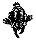 Rabbit Tattoo Royalty Free Stock Photo