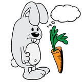 Rabbit with thought bubble Royalty Free Stock Images