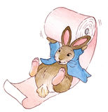 Rabbit with toilet paper Stock Image