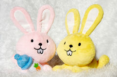 Rabbit toy Stock Images