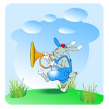 Rabbit trumpeter Royalty Free Stock Image