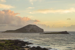 Rabbit and Turtle Island at sunrise Stock Photo