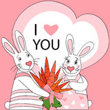 Rabbit valentine Royalty Free Stock Photos
