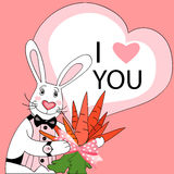Rabbit valentine Stock Photography