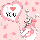Rabbit valentine Stock Image