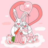 Rabbit valentine Royalty Free Stock Image