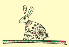 Rabbit vector illustration Royalty Free Stock Image