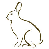 Rabbit. Vector illustration : Rabbit sketch on a white background Stock Images