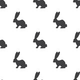 Rabbit, vector seamless pattern. Editable can be used for web page backgrounds, pattern fills Royalty Free Stock Images