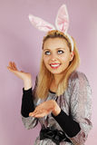 Rabbit woman Royalty Free Stock Photography