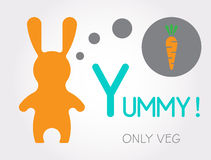 Rabbit yummy 1 Stock Photos