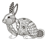 Rabbit Zentangle Stylized Stock Image