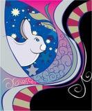 Rabbit zodiac Royalty Free Stock Image