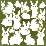 Rabbits background Royalty Free Stock Photo
