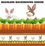 Rabbits and carrot farm Royalty Free Stock Photos