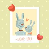 Rabbits - cartoon characters Stock Image