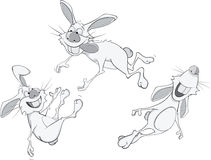 Rabbits cartoon Stock Photo