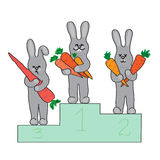 Rabbits Champions Royalty Free Stock Image