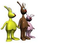 Rabbits. 3d illustration on withe background Stock Photo