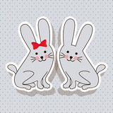 Rabbits design Stock Photos