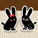Rabbits design Royalty Free Stock Images