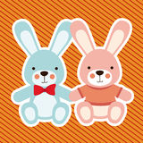 Rabbits design Royalty Free Stock Image