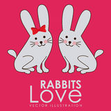 Rabbits design Stock Photo