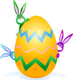 Rabbits and Easter egg Stock Image