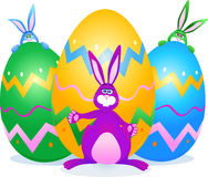 Rabbits and Easter egg Royalty Free Stock Photos