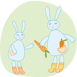 Rabbits family Stock Photo