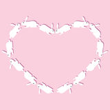 Rabbits heart Stock Images