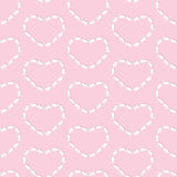 Rabbits heart pattern Royalty Free Stock Image
