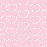 Rabbits heart pattern Royalty Free Stock Image