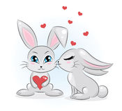 Rabbits in love. Royalty Free Stock Photos