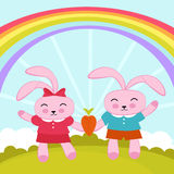 Rabbits in love Royalty Free Stock Photo