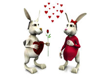 Rabbits in love Stock Image