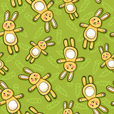 Rabbits pattern. Seamless pattern with rabbits and carrots Stock Photo