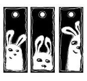 Rabbits price tags Royalty Free Stock Image